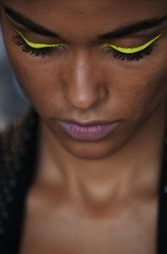 neon eyeliner, L.A.M.B, Spring 2010