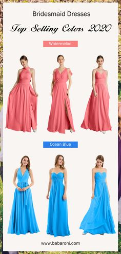 Sku: Hundreds Available Price: Under $99.00 Color: Watermelon/Ocean Blue Size: All Sizes Available These are full-length dresses made of chiffon fabric, which make you look attractive and elegant. #babaroni #bigsale #2020wedding #weddinginspiration #wedding #wedding #weddings #weddings #weddingdress #weddingdresses #bridalgown #bridesmaid #bridesmaiddress #bridesmaidgown #bridesmaidgowns#bridesmaiddrsses #chiffondress #longdress #dreamdress #longgown