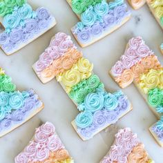 Taste the rainbow 🌈😄💕 1st Birthday Cake For Girls, Candy Theme Birthday Party, First Birthday Cookies, 80th Birthday, Birthday Ideas, Cupcakes, Cupcake Cookies, Sugar Cookies, Sugar Cookie Frosting
