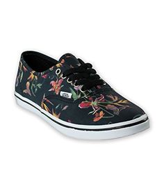 Vans Unisex Authentic Lo Pro Black BloomBlackTrue White Sneakers Mens US  65Womens US 8  gt  bab17d4a6768f