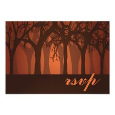 See MoreAutumn Woods RSVP Reply Wedding Card InvitesThis site is will advise you where to buy