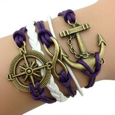 Purple Sailor's Arm Party Bracelet