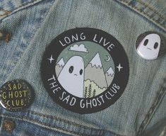 Embroidered patches are coming to the Sad Ghost Club shop on monday! We hope you like them ghosties! shop//facebook//instagram