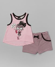 Love this Pink 'I Love Summer' Tank & Shorts - Infant, Toddler & Girls on #zulily! #zulilyfinds