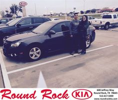 Congratulations to Israel Garcia on your #Chevrolet #Cruze purchase from Aaron Ismail at Round Rock Kia! #NewCar
