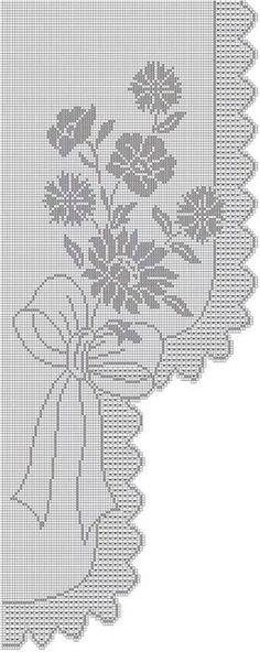 Kira scheme crochet: Scheme crochet no. Crochet Patterns Filet, Funny Cross Stitch Patterns, Crochet Flower Patterns, Doily Patterns, Crochet Motif, Crochet Doilies, Crochet Flowers, Knit Crochet, Napkin Rose