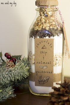 Quick Bread in a Bottle Revisited and Free Downloadable Template at Me and My DIY