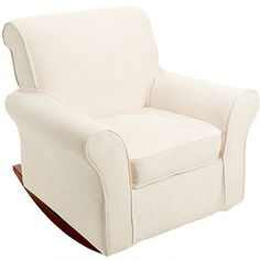 My rocking chair for the nursery <3 Dorel - Rocker Microfiber Chair and Slipcover, Beige White Dining Chairs, Living Room Chairs, Nursery Chairs, Teal Accent Chair, Accent Chairs, Heavy Duty Beach Chairs, Rocker, Slipcovers For Chairs, Pottery Barn Kids