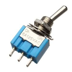5pcs Spdt 3 Pins Toggle Switch Ac 125v 6a On/on 2 Position. 5Pcs SPDT 3 Pins Toggle Switch AC 125V 6A ON/ON 2 Position  Description:  Used on low voltage or high voltage circuits Great for switching lights or motors This switch is NOT momentary There is no center position  Specification:  Rated voltage & current: AC 125V, 6A Pin number: 3 Pins Position: 2 Positions (ON / ON) Material: Plastic, Metal Size: 13 x 33mm  Package included:  5 x Toggle switch