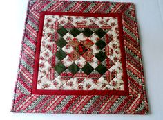 Christmas Quilted Table Topper Candle Mat by ForgetMeNotQuilteds