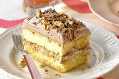 Chocolate and Hazelnut Slice, 10 Delicious Chocolate Dessert Recipes - Always in Trend Greek Sweets, Greek Desserts, No Bake Desserts, Healthy Desserts, Easy Desserts, Layered Desserts, Sweet Recipes, Cake Recipes, Dessert Recipes