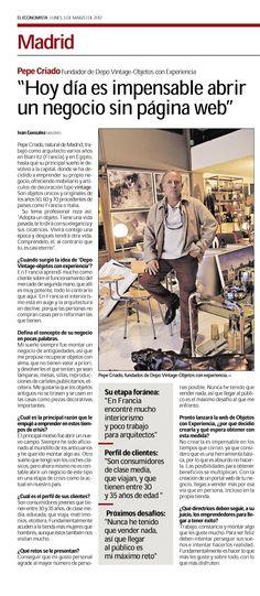 El fundador de objetos con experiencia , Pepe Criado, habla para El Economista  www.objetosconexperiencia.com