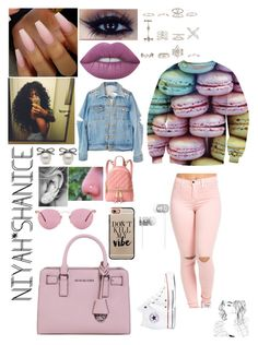 """I'm a French Dessert***"" by adavies1115 ❤ liked on Polyvore featuring Lime Crime, High Heels Suicide, New Look, MICHAEL Michael Kors, Oliver Peoples, Casetify, Converse and Beats by Dr. Dre"