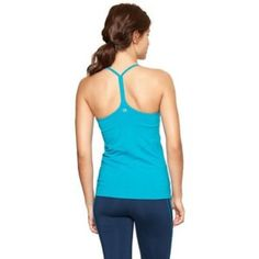 GapFit Turquiose Tank with Built-In Bra This is in like new condition. Barely worn. Beautiful color! GAP Tops Tank Tops