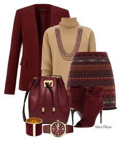 """""""Burgundy"""" by nuria-pellisa-salvado ❤ liked on Polyvore featuring Theory, J.W. Anderson, David Yurman, Michael Kors, Burberry, Dsquared2 and Marc by Marc Jacobs"""