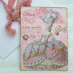 NoteCards Flat Marie Antoinette  Paris Large by EnchantedQuilling, $10.00