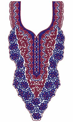 Checkout very good stitch patterns for neck #embroidery #design. Check this awesome design online from #embdesigntube