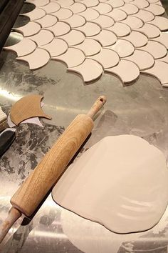 Making my own unique tiles for back splash...hmmm a novel idea indeed.