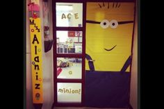 Birthday Party Ideas Despicable Me Minion Door Decoration