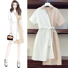 Kpop Fashion Outfits, Girls Fashion Clothes, Mode Outfits, Stylish Outfits, Fashion Drawing Dresses, Fashion Illustration Dresses, Fashion Dresses, Korean Girl Fashion, Chinese Fashion