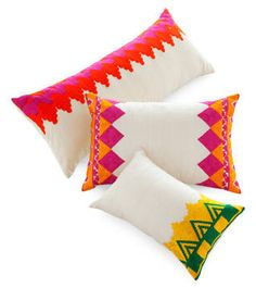 Moroccan Pillows by Manglam Arts - ELLE DECOR