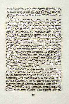 """anca gray is part of pencil-drawings - defacedbook """" Remo Albert Alig Fine Books Have a Purpose, Gold 2005 Sunlight on Paper x 20 """" Word Art, Wort Collage, Art Postal, Book Projects, Grafik Design, Altered Books, Art Plastique, Bookbinding, Book Crafts"""