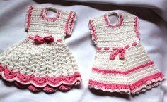 Set of 2 Vintage Crocheted Retro Boy & Girl by outoftheattic2u, $12.00