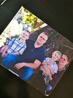 Photo canvas tutorial. Print a picture onto tissue paper and mod podge it on