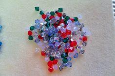 144 pcs Swarovski Crystal Bicone Beads size Mix Assortments Christmas by Gstrands on Etsy Swarovski Crystal Beads, White Opal, Jewelry Supplies, Christmas, Handmade, Stuff To Buy, Etsy, Xmas, Hand Made