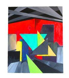 "Saatchi Art Artist Alex Einbinder; Painting, ""cities 001"" #art"