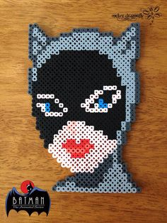 Selina Kyle: Catwoman (From Batman: The Animatec Series) - Perler Bead Creation by RockerDragonfly
