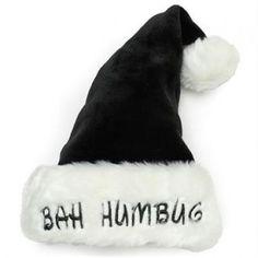 Bah Humbug Santa Hat /& Beard Adults Fancy Dress Scrooge Christmas Costume Acc