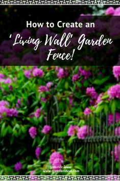 A fence is an integral part of every garden, offering privacy from neighbors or passersby, and enhancing the feeling of your garden being an extra room to your house. Get creative and DIY a Leafy