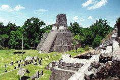 Tikal is one of the largest archaeological sites and urban centers of the Pre-Columbian Maya civilization. It is located in the archaeological region of the Petén Basin in northern Guatemala. This amazing site is part of Guatemala's Tikal National Park, a Tikal, Mayan Ruins, Ancient Ruins, Aztec Ruins, Places To Travel, Places To See, Maya Civilization, Site Archéologique, Guatemala City