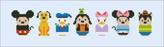 Mickey Mouse and friends parody Cross stitch PDF por cloudsfactory