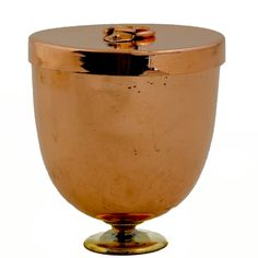 """English Ice Cream Mold with Lid and Brass Foot - Circa 1890-1900. 5"""" High x…"""