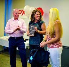CEO Rick Wall & COO Tracie Duke presenting an award to SPX National Training Director SPX Corporate Trainer Vicki Layton for her leadership. www.SPXNutri-tion.com