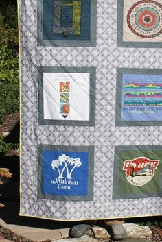 I will be doing this with my concert t-shirts! Tee shirt quilt