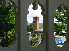 Chautauqua Institution - Miller Bell Tower from Athenaeum