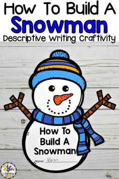 Are you looking for a winter descriptive writing craftivity? This How To Build A Snowman Craft and Writing Activity is a cute and creative way to get your students to describe and write about the steps to building a snowman. This Snowman writing activity includes a word web, snowman craft, writing paper, and word wall cards. Click on the picture to learn more about this Winter writing activity! #howtobuildasnowman #snowmancraft #snowmanwritingactivity #winterwritingactivity #descriptivewriting