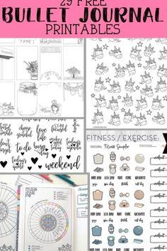 Bullet Journal For Kids, Bullet Journal Free Printables, Bullet Journal 2020, Journal Template, Printable Calendar Template, Printable Planner, Bullet Journals, Blog Planner, Planner Pages