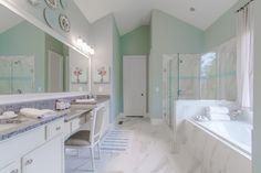 Beautiful Marble Full Bath – Madison Model, Lake Haven of Crabapple – via Edward Andrews Homes