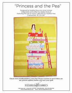 Instructions for this quilt Princess and the Pea by Heather Ross & Anne Sullivan