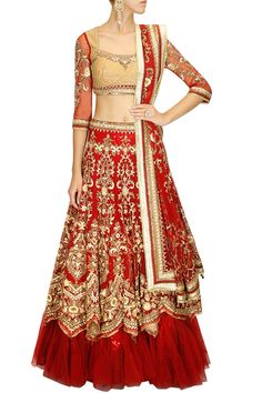 Tarun Tahiliani presents Maroon sequins and cutdana embroidered lehenga set available only at Pernia's Pop-Up Shop. Indian Wedding Gowns, Indian Bridal Lehenga, Indian Dresses, Indian Outfits, Indian Clothes, Indian Weddings, Wedding Dresses, India Fashion, Asian Fashion