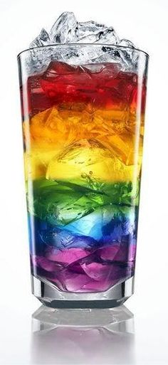 A rainbow glass.
