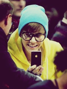 the only guy who came make a baby blue beanie, yellow hoodie, and glasses look so hot.