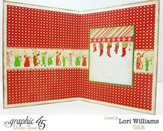 The inside of Lori's 'Twas the Night Before Christmas is just as lovely! Take a look at the front of the card by clicking on the photo #graphic45 #cards