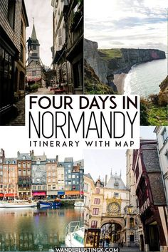 Four days in Normandy road trip: The perfect Normandy itinerary : Planning your trip to Normandy France? Your travel guide for Normandy France, including 4 day itinerary for Normandy, including the best places to visit in Normandy. This Normandy road trip Etretat Normandie, Etretat France, Normandie France, Provence France, Europe Travel Tips, European Travel, Travel Guide, Travel Abroad, Travel Trip