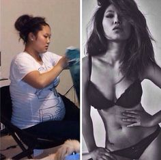 transformations. wow she's hot!