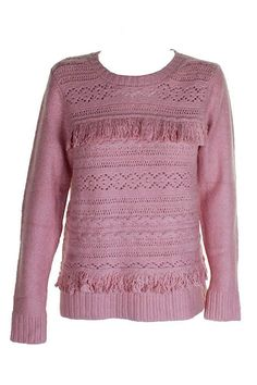 Extra Off Coupon So Cheap kensie Women s Cable Knit Sweater with Tassel  Fringe Detail e35517919